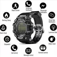 zarks ex16 ip67 waterproof smart watch notification remote control pedometer sport bluetooth clock mens wristwatch for android