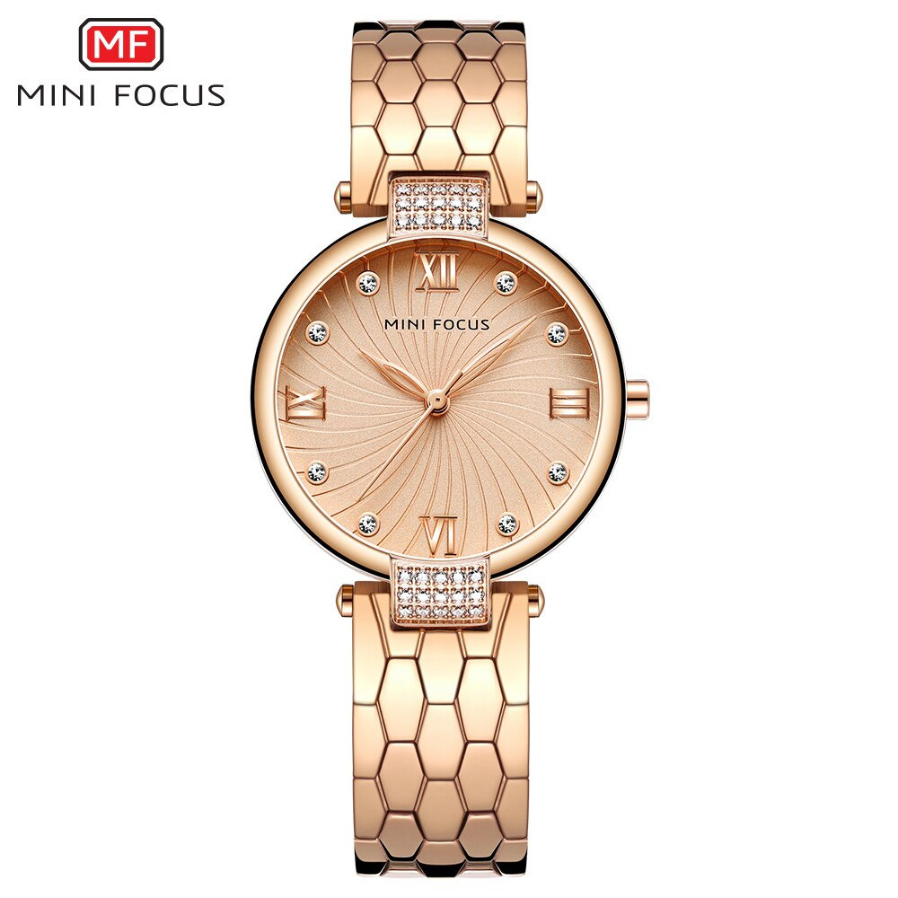 MINI FOCUS Women Watches Famous Luxury Brand Stainless Steel Elegant Women Quartz Watches Fashion Reloj Mujer Ladies Dress Watch