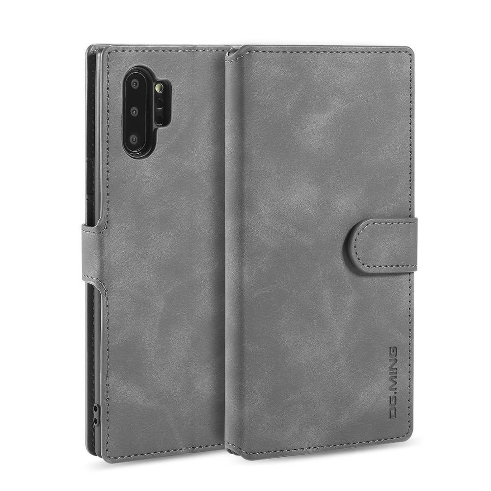 Чехол DG MING для Samsung Galaxy Note 10 10Pro, винтажный откидной бумажник, защитный чехол, Магнитная подставка для Note 10, чехол