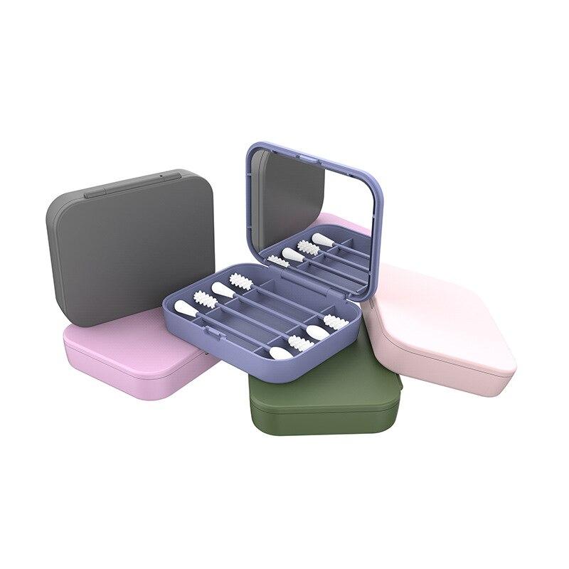 4 Uds. Bastoncillos reutilizables de algodón para limpieza de oídos, bastoncillos de silicona para limpieza de maquillaje, de doble cabeza toque-ups, triangulación de envíos