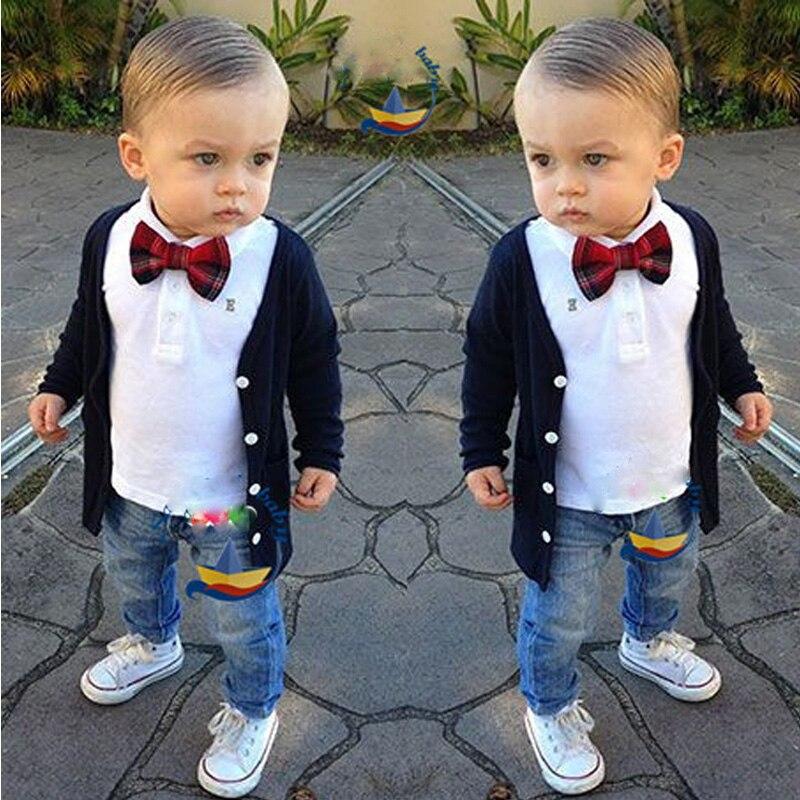 moda infantil primavera outono roupas sociais para bebes meninos conjuntos de roupas