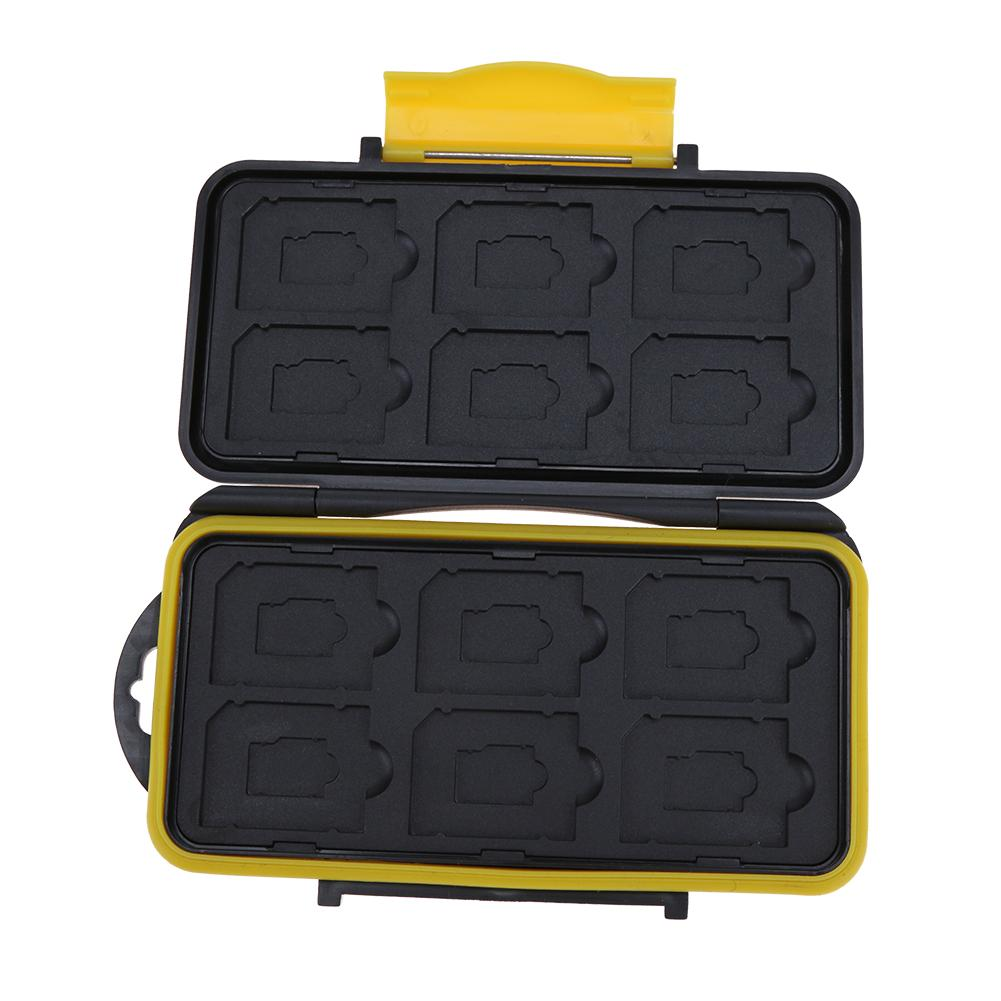 ALLOYSEED 12 Slots Waterproof Memory Carase SD/Micro SD/TF Cards Storage Holder Box Protector Cover For SD/SDHC/SDXC/TF enlarge