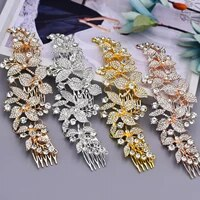 trixy h301 colorful wedding hair accessories flowers bridal crown and tiara crystals headpieces women hair jewelry hair ornament