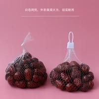 100pcs aquatic fruit packing pockets of mesh bag to receive a net food packaging net household gardening mesh net and net buckle