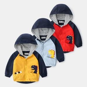 Kids Clothes boys outerwear Jackets Children Hooded Zipper Windbreaker Coat Infant Waterproof Fashion Cartoon Hoodies For Boy
