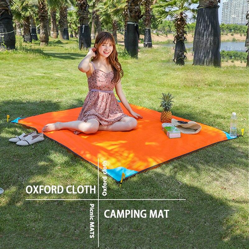 Outdoor Picnic Mat Collapsible Oxford Cloth Moisture-proof Mat Ultralight Waterproof Camping Beach Mat Portable Tent Mattress