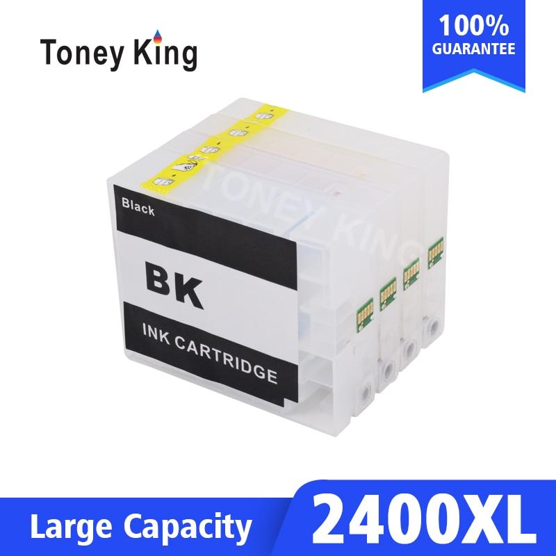 Cartucho recargable Toney King para cartucho de tinta Canon PGI 2400 para impresora MAXIFY IB4040 iB4140 MB5040 MB5140 MB5340 MB5340 MB5440