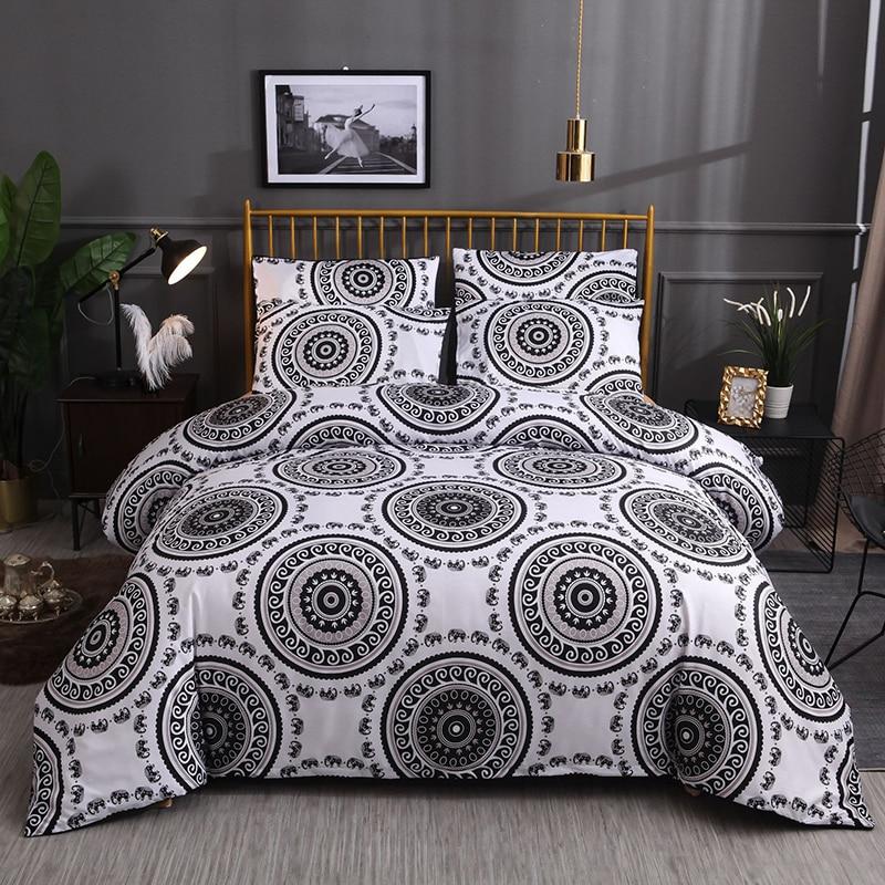 Juego de fundas de edredón geométricas, ropa de cama Bohemia, juego de cama Individual Doble, ropa de cama King Size (sin sábana)