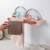 rotatable bathroom towel storage rack multi wall mounted rod toilet perforated towel storage rack bath towel rack home supplies