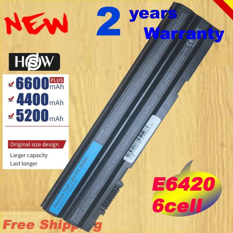 [Preço especial] 6 células 5200 mah t54fj m5y0x bateria para dell latitude e5420 e5520 e6420 e6430 8858x kj321 p9tj0 prrrf transporte rápido