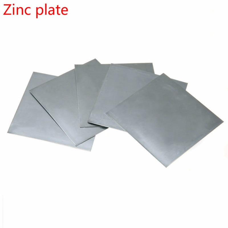 2PCS science laboratory chemical high-purity pure zinc plate 100mm x 100mm x 0.2mm blue and white me