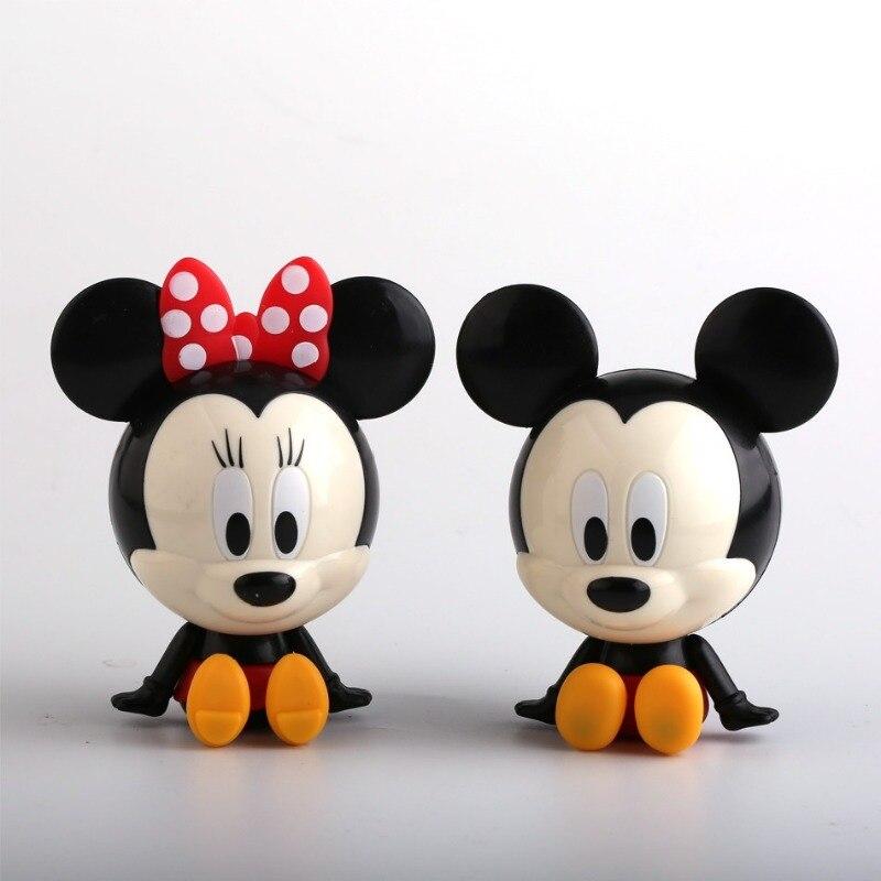 2 Pcs/Set Disney Plastic Mickey Mouse Minnie Birthday Cake Decoration Action Figure Pvc Model Anime Gifts