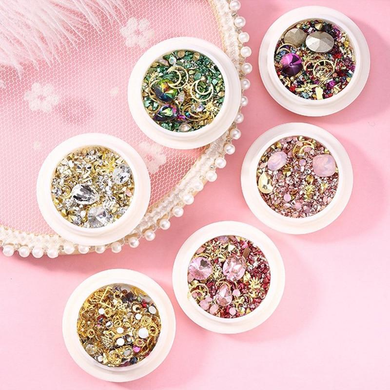 1 caja de diamantes de imitación para uñas, adornos Nail Art con...