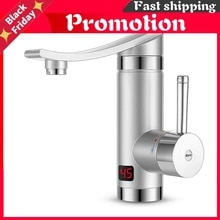 3000w Electric Instant Water Heater Faucet Tap Led Ambient Light Temperature Display Bathroom Kitche