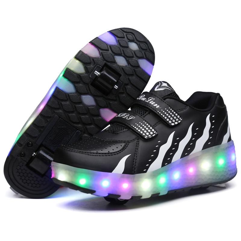 Zapatos Con luces LED para niños y niñas, Zapatillas de Patinaje Con...