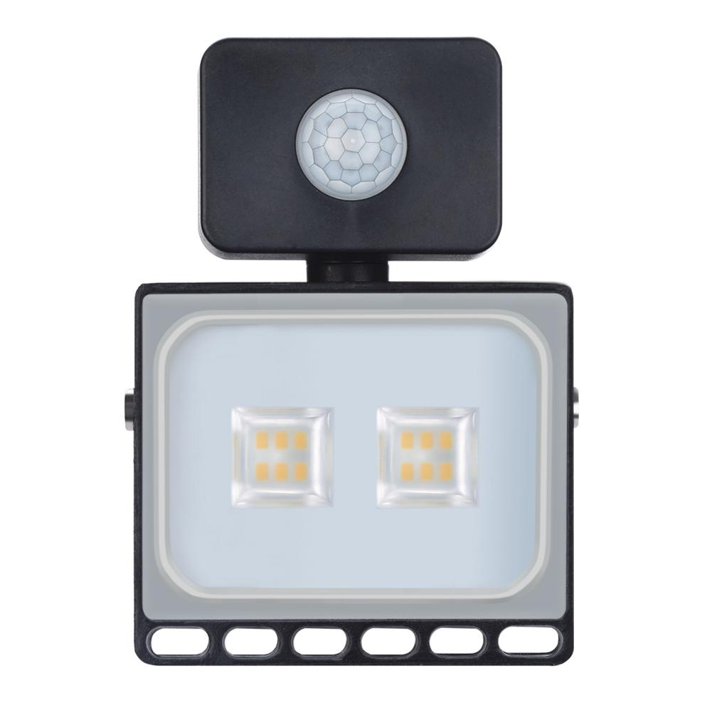New 110V LED FloodLight 10W Reflector LED Flood Light Waterproof IP65 Spotlight Wall Outdoor Lighting With Induction Warm Cold