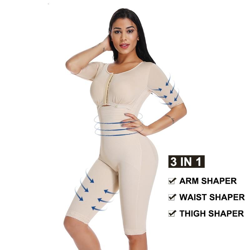 ملابس داخلية نسائية للذراع ، جهاز تحكم في البطن ، Powernet ، تشكيل كامل للجسم بعد الجراحة ، بدلة للجسم ، مدرب خصر ، مشد تنحيف الفخذين