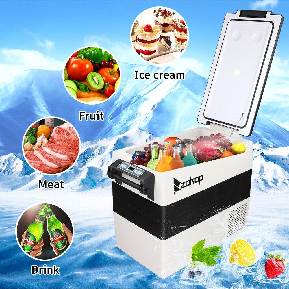 52l Car Refrigerator 12v/24v Compressor Freezer Portable Car Fridge Cool With Digital Display For Home Travel Camping enlarge