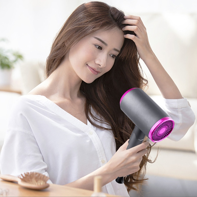 Hair Dryer Cold And Hot Air Distribution Nozzle Can Be Replaced enlarge