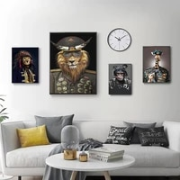 modern abstract animal general lion tiger giraffe posters nordic wall art print canvas painting living room corridor decoration