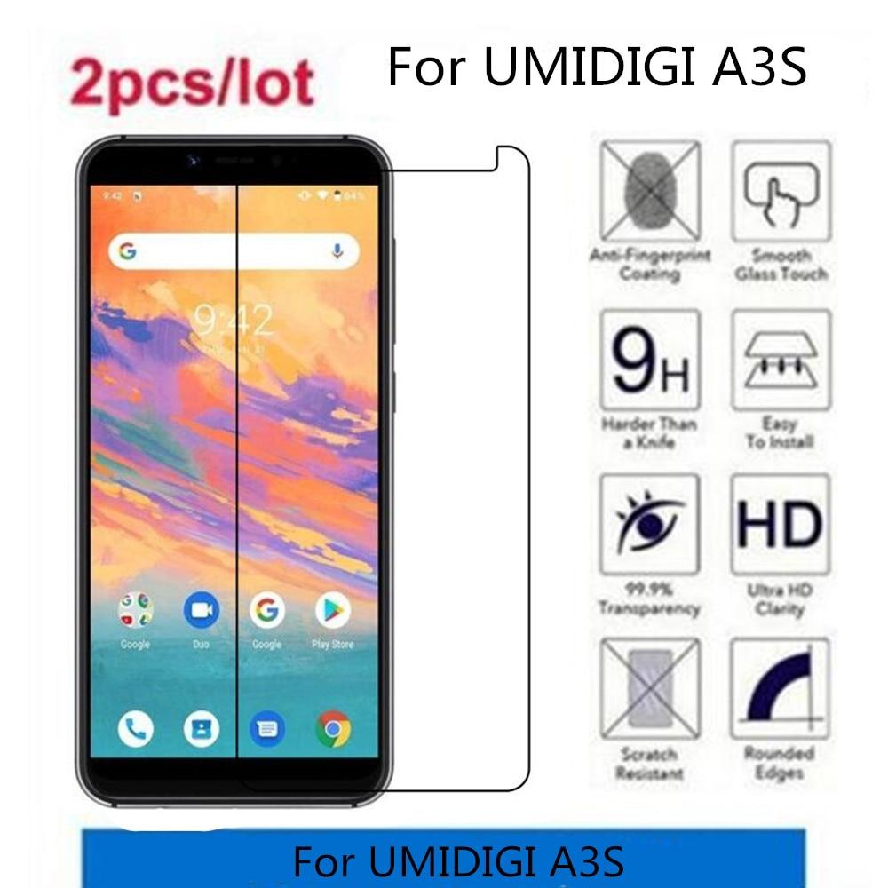 2.5D 9H vidrio templado para UMIDIGI Protector de pantalla A3S película protectora endurecida para vidrio UMIDIGI A3S