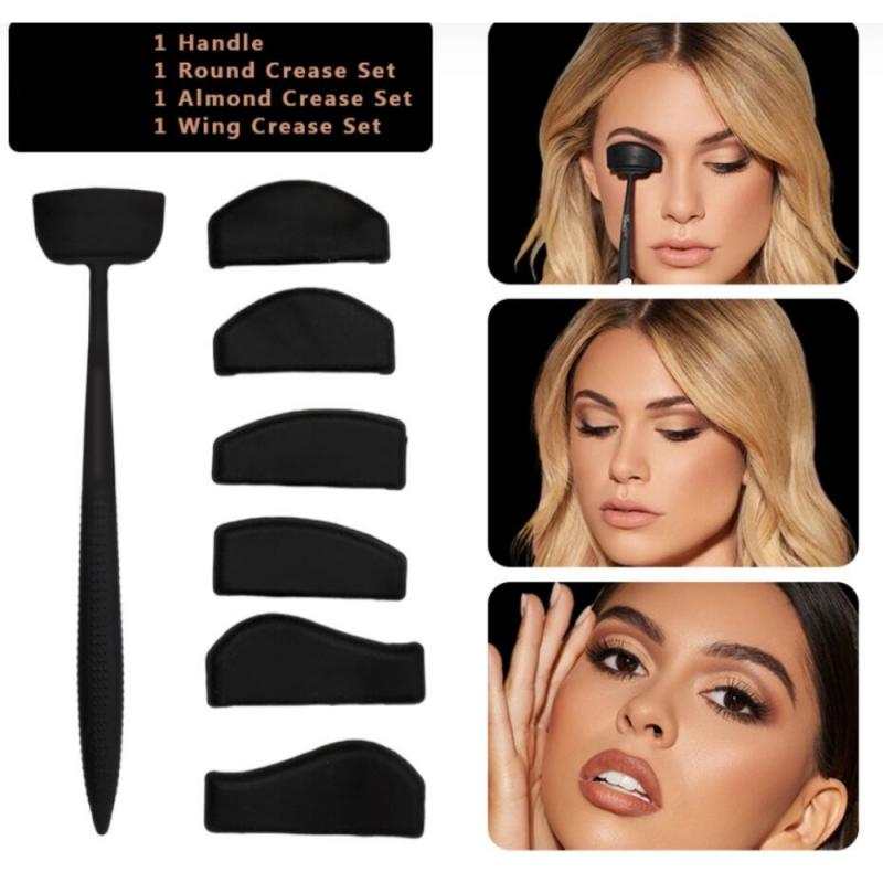 6 In 1 Eye Makeup Stencil Crease Line Kit Lazy Eyeshadows Fixer Portable Stamp Eye Shadow In Seconds