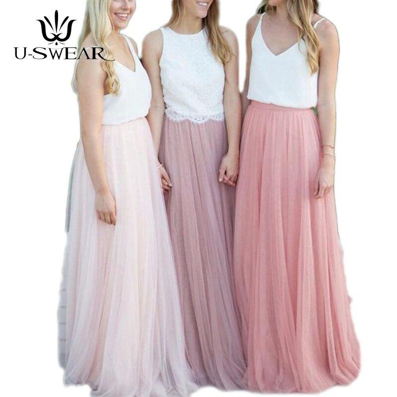 Длинное Тюлевое платье подружки невесты конфетный оттенок женский платья для вечерние и свадебные размера плюс Vestido Azul Marino свадебное плать...