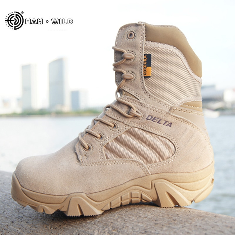 Winter Autumn Men Military Boots Quality Special Force Tactical Desert Combat Ankle Boats Army Work Shoes Leather Snow Boots jzb high quality men military boots special force tactical desert combat ankle botas army work safety shoes leather snow boots