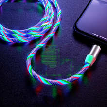 HEEMAX LED Lighting Type C Cable USB C Wire Micro Charger Cable Fast Charging Magnetic USB Cable for iPhone Huawei Samsung