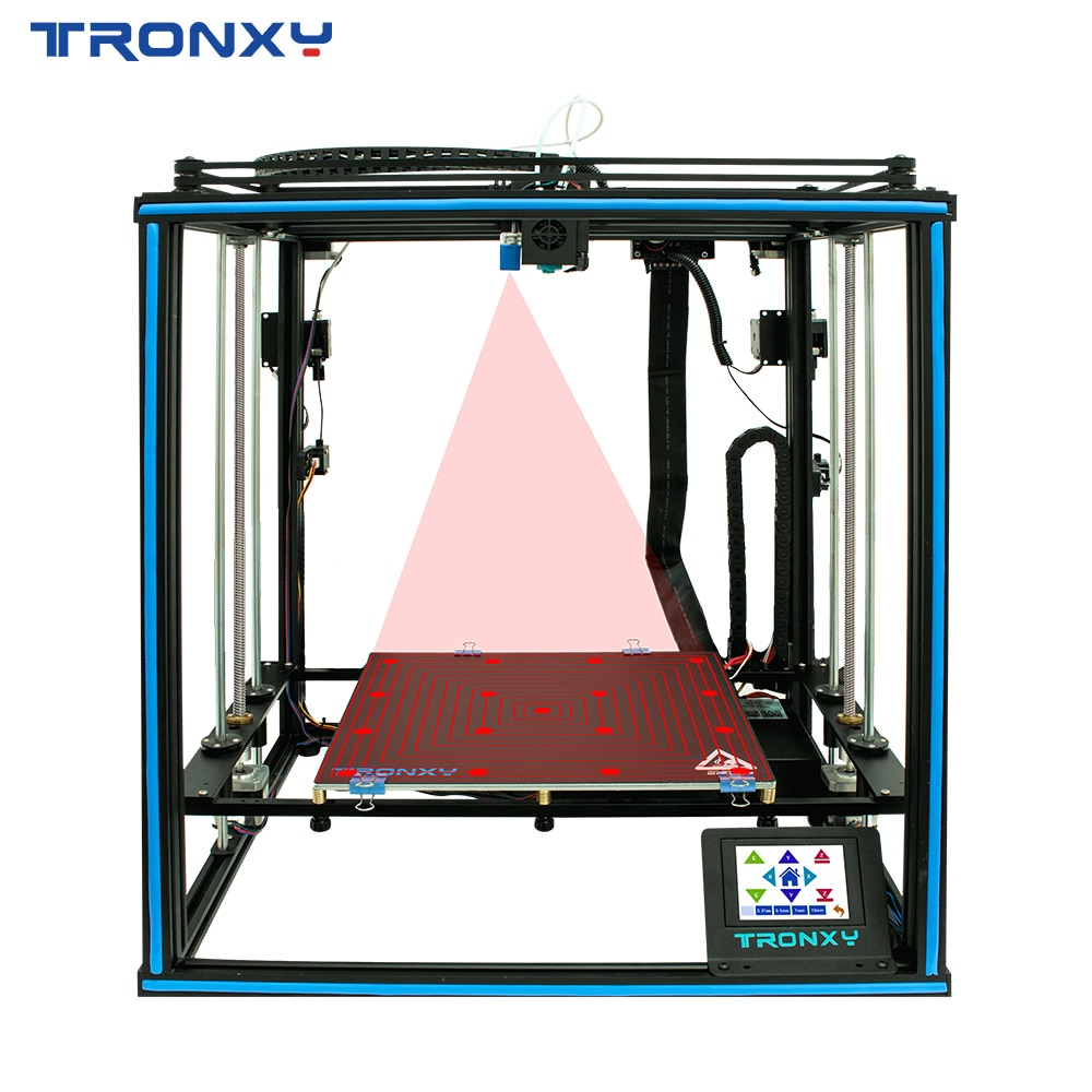Tronxy X5SA-2E New Upgraded 3D Printer Auto leveling Filament Sensor Dual Titan Extruders Large Build Plate Dual colors Printing