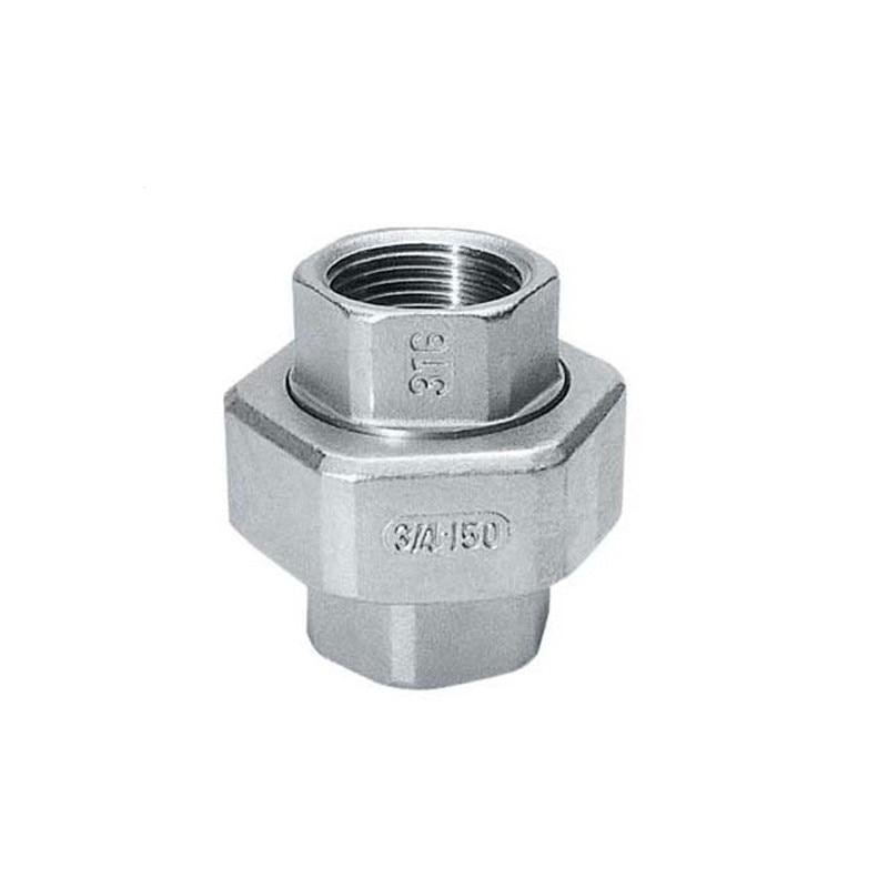 BSPT-أنبوب فولاذي مقاوم للصدأ ذو سن مدبب للإناث ، 1-1/2 بوصة DN40 ، فولاذ مقاوم للصدأ SS304