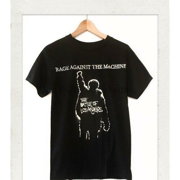 Rage Against The Machine la batalla de LOS Ángeles banda BLK camiseta hombres S-2xl