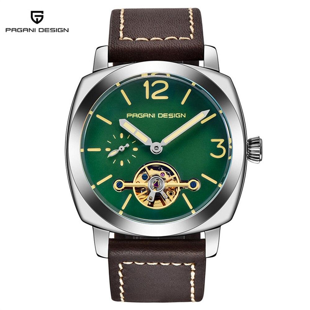 2021 Pagani ساعة ذات تصميم رائع للرجال التلقائي ساعة ميكانيكية موضة عادية ساعة رياضية الرجال الجلود مقاوم للماء ساعة Reloj Hombre