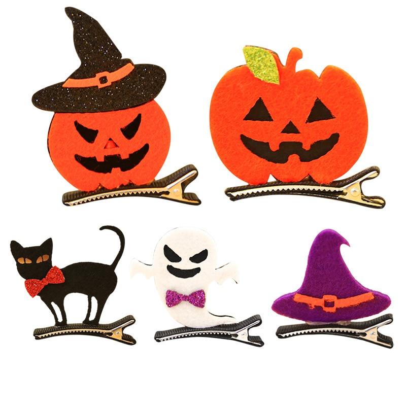 Halloween Girl aligator spinki do włosów duch/czarownica kapelusz/dynia/kot dziecko spinka do włosów akcesoria TT @ 88