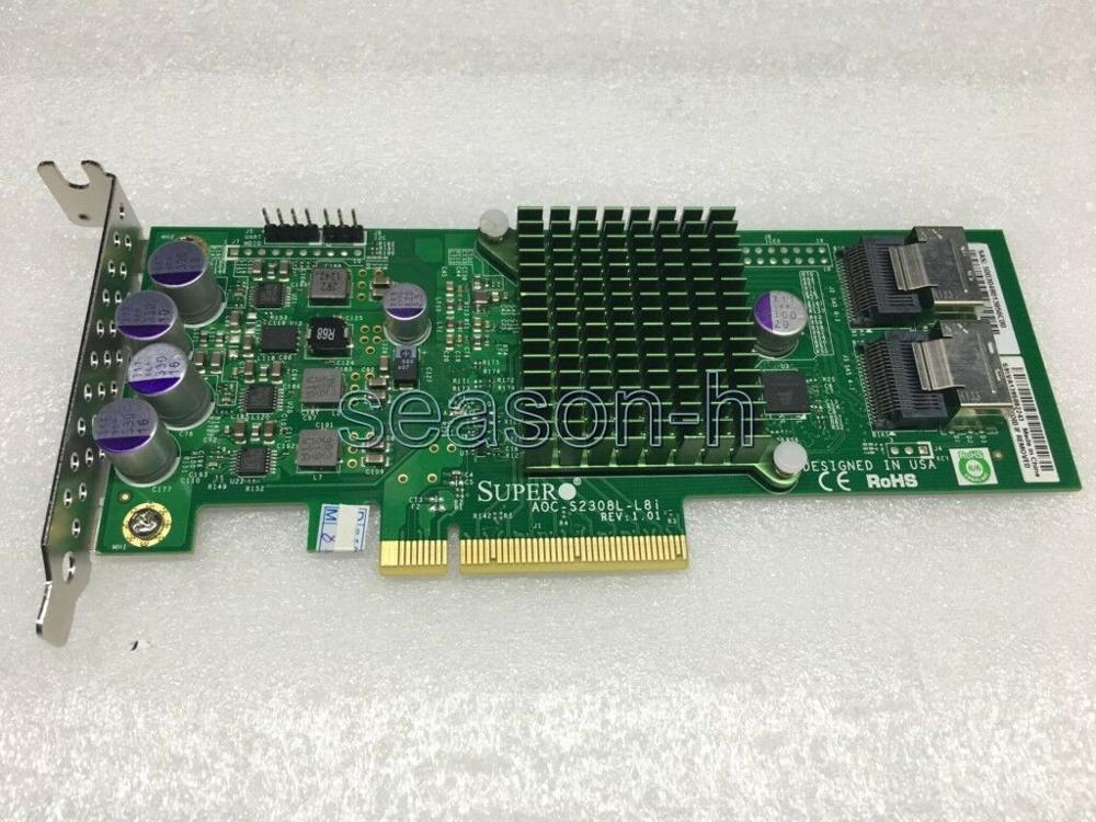 سوبرمايكرو AOC-S2308L-L8i 8 منافذ SAS600 بكيي 6 جيجابايت/ثانية الخادم تحكم بطاقة الانظار