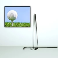 wall art canvas poster painting prints picture for living bedding room decor painting original golf logo golf ball tee off sport