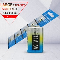 5pcs 11A 6V alkaline battery car remote control battery L1016 forAnti-theft alarm system