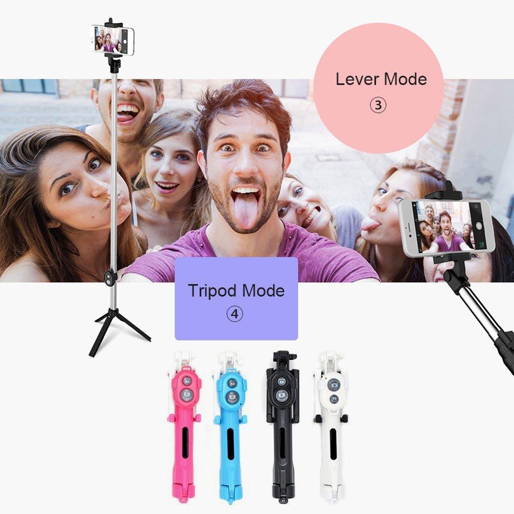 4 In One Selfie Stick Wireless Selfie Stick Mobile Phone Universal One Wireless Self-Timer Artifact Tripod Selfie Stick