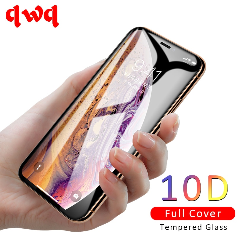New 10D Full Protective Glass For iPhone Xs X XR Tempered Glass Cover For iPhone Xs Max 7 8 6 Plus X Screen Protector Glass Film