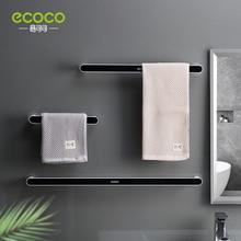 ECOCO-toallero de plástico para el hogar, organizador de toallas, estante montado en la pared, sin perforaciones, suministro de baño