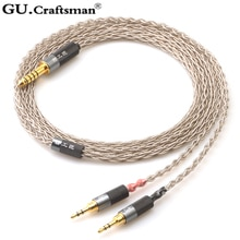 Guartisan 6n argent pour HIFIman HE400s HE1000 v2 édition X V2 HE1000 EDX 3.5mm/2.5mm/4.4mm balance casque câble de mise à niveau