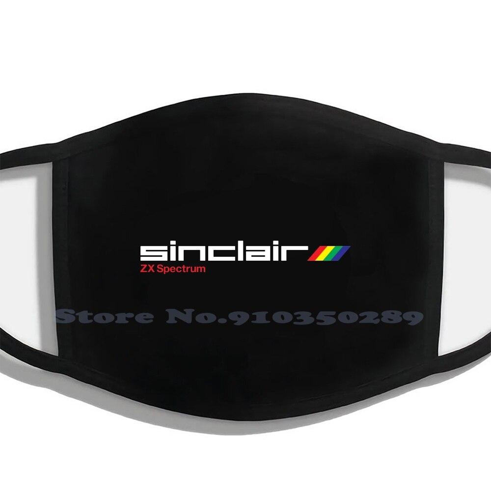 Zx Spectrum-mascarillas negras lavables para hombre y mujer, Micro ordenador Z80 Jet,...