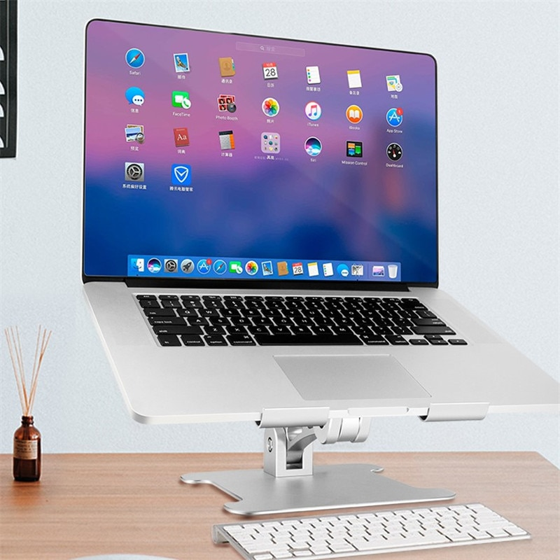 Aluminium Alloy Laptop Stand For  Macbook Adjustable Folding Portable Notebook Holder Computer Bracket Lifting Cooling Holder