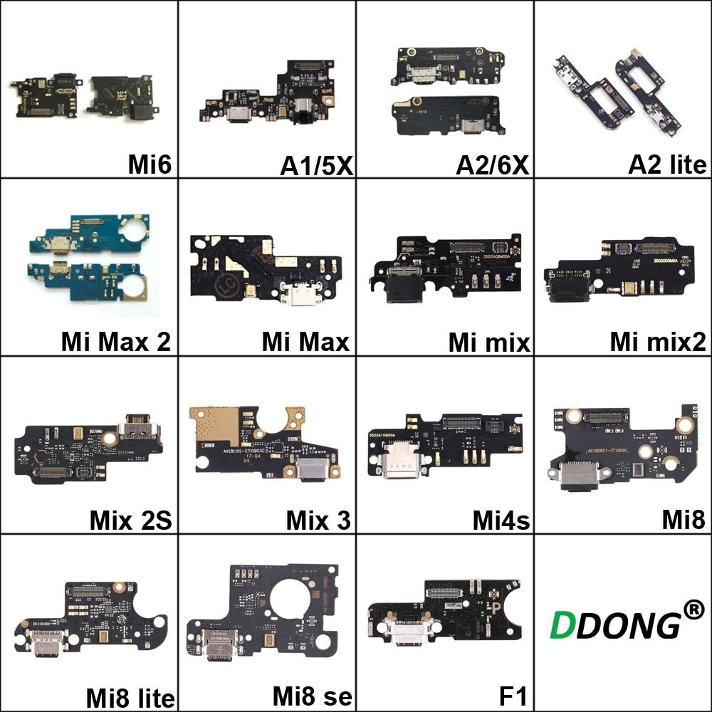 Para Xiaomi mi 6 A1/5X A2/6X Max2/max/mi x 2s mi 3 mi 4S mi 8 mi 8 lite mi 8 se F1 puerto de carga conector de enchufe Cable flexible de carga