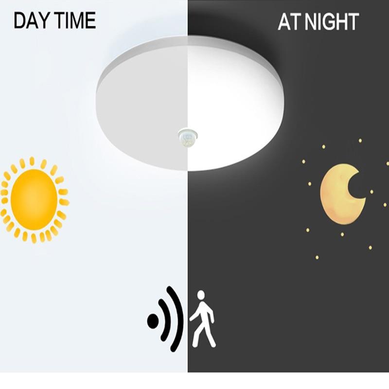 Lámpara LED con Sensor de movimiento PIR AC85-265V 9W 13W 18W 24W 36W moderno y práctico Sensor de luz infrarroja pasillos