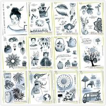2021 nuevo sello francés transparente para álbum de recortes DIY/fabricación de tarjetas B651