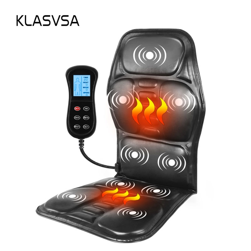 aliexpress.com - KLASVSA Electric Portable Heating Vibrating Back Massager Chair In Cushion Car Home Office Lumbar Neck Mattress Pain Relief