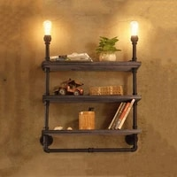 amercian style antique industrial wall lamp study store shop restaurant cafe light iron bookshelf lamps e27 vintage wall sconce