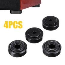 4 pièces noir lecteur CD pieds Pad antichoc en aluminium haut-parleur tapis armoire Isolation Base avec anneau en caoutchouc antidérapant amovible pour AMP
