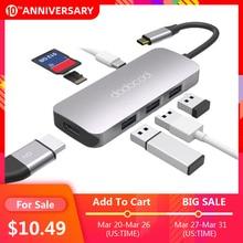 Dodocool 7-In-1 Multifunctionele USB-C Hub Met 4K Hd Output Sd/Tf Pd Opladen 3 usb 3.0 Poorten Voor Macbook Voor Macbook Pro En Meer